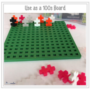Use Plus Plus Blocks as a 100s board.