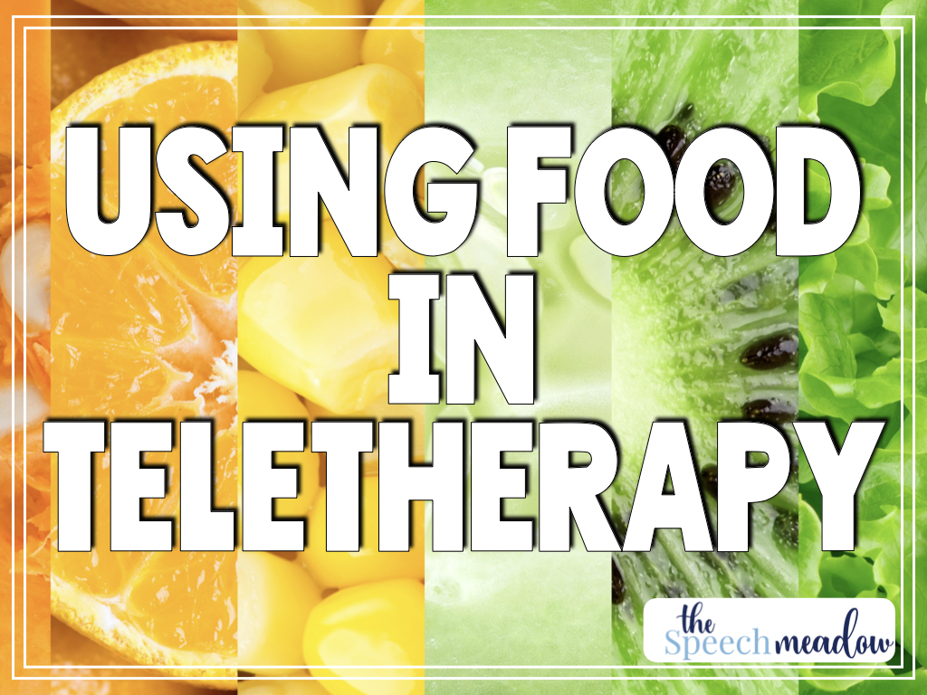 Using food in teletherapy