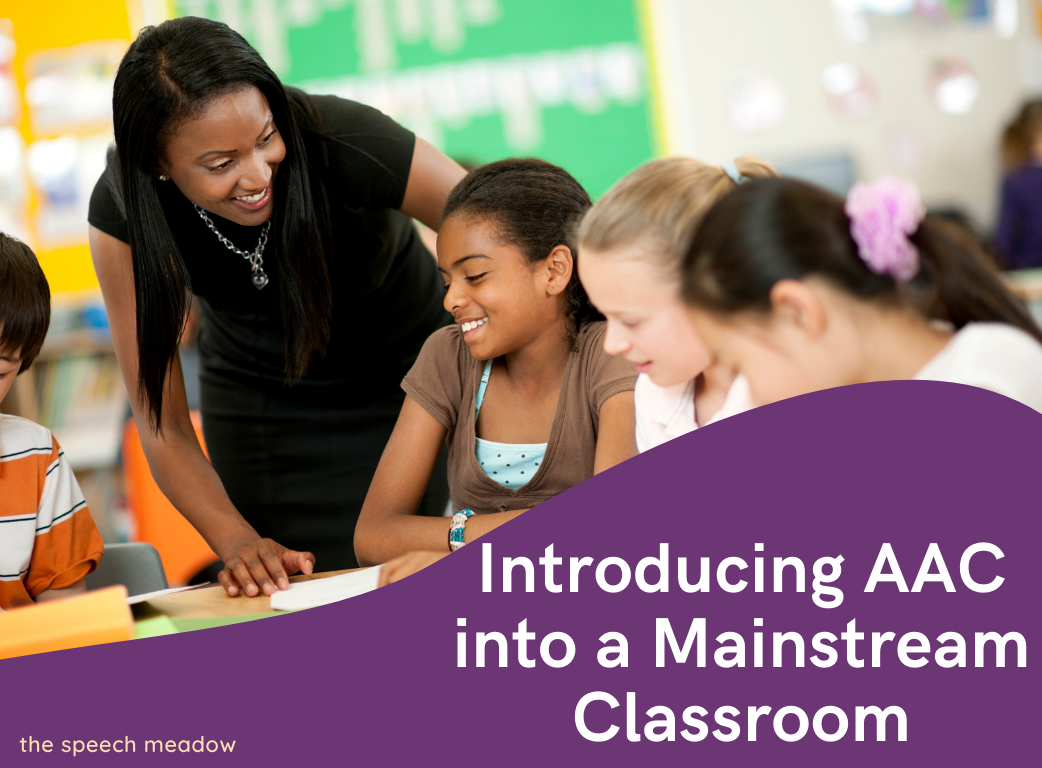 """Blog title, """"Introducing AAC into a mainstream classroom"""""""
